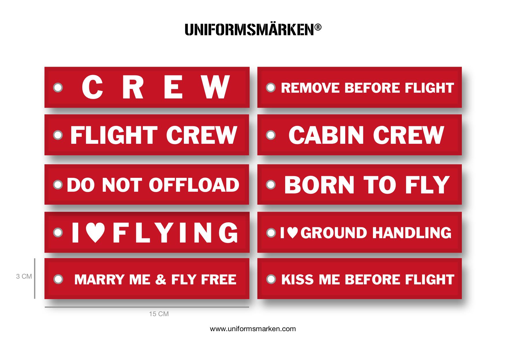 Crew Tag by UNIFORMSMÄRKEN®